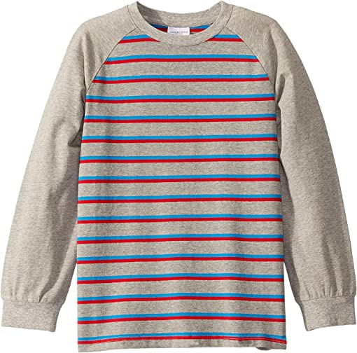 Grey/Red Striped