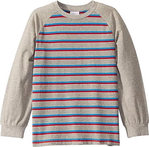 Grey/Red Striped