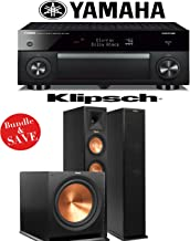 Yamaha RX-A1060BL AVENTAGE 7.2-Channel Dolby Atmos Network A/V Receiver + Klipsch RP-260F + Klipsch R-115SW - 2.1 Reference Premiere Home Theater Package