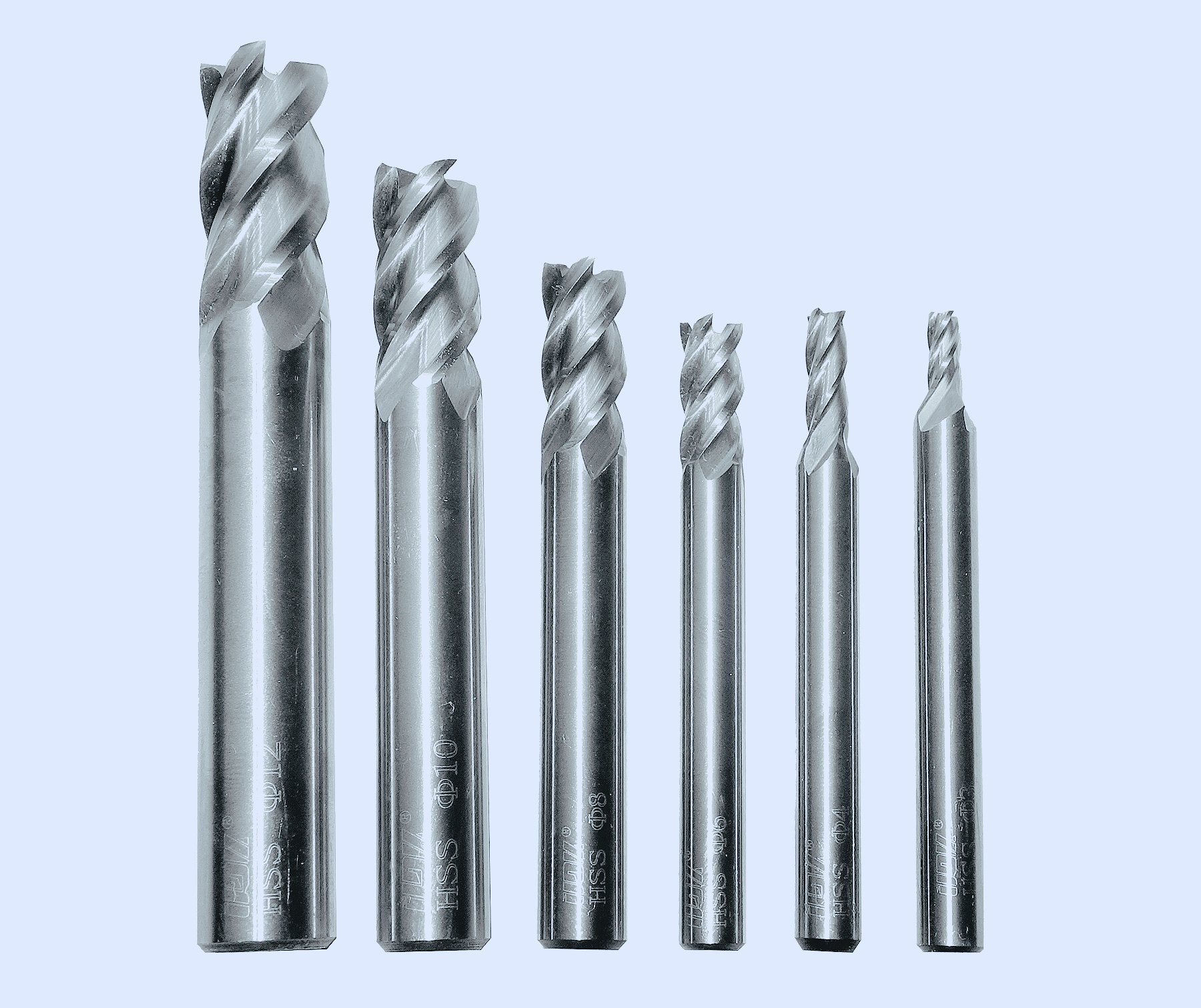 6mmDia/×6mmShank/×100mmOAL Wokesi 6mm Cutting Dia,6mm Shank Dia,100mmOAL,Extra Long Shank,HRC60,4Flutes,AITIN Coated,Solid Tungsten Carbide,Square End Mill Flat Endmills CNC Router Bits