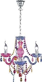 comprar comparacion Reality Luster - Lámpara colgante de 3 luces. Necesarias 3 bombillas E14 de máximo 40W excluidas. Cuerpo acrílico multicolor