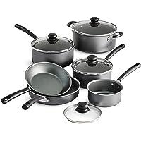 Tramontina PrimaWare 10-Piece Nonstick Cookware Set (Steel Gray)
