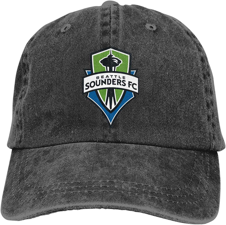 RUIHGK Seattle Sounders Denim Cap Adjustable Casquettes Baseball Cowboy Hat