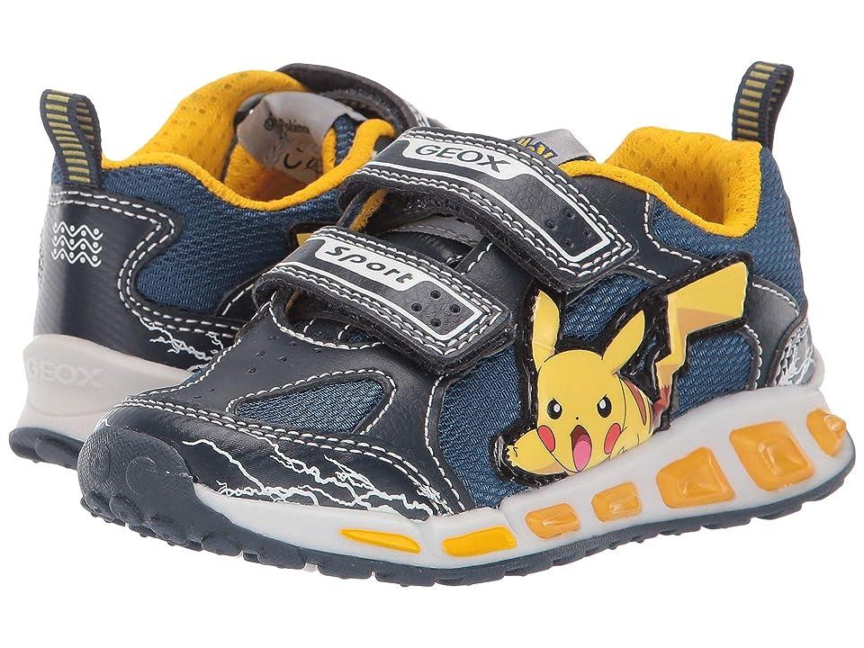 Geox Kids Shuttle 15 Pokemon (Toddler/Little Kid) (Blue/Yellow) Boy