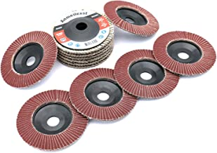 Anmeilexst 12 Pcs 320 Grit High Density Aluminum Oxide Flap Disc Abrasive Grinding Whee, 4