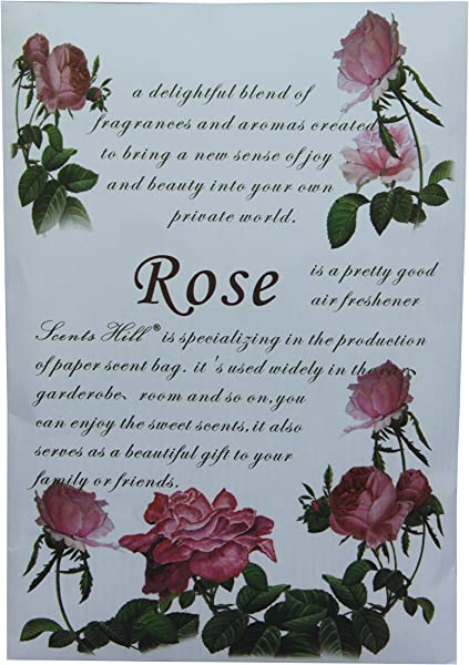 Scents Hill Scented Sachet For Drawer And Closet Lot Of 8 Rose