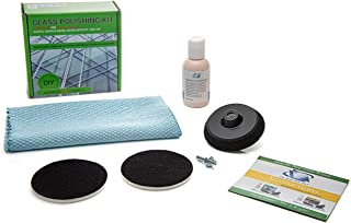 Cristal pulido–Kit de bricolaje reparación–elimina arañazos, superficie marcas, cal y depósitos minerales (3pulgadas, 75mm componentes)