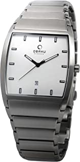 Obaku Men's White Dial Stainless Steel Band Watch - V142GCISC