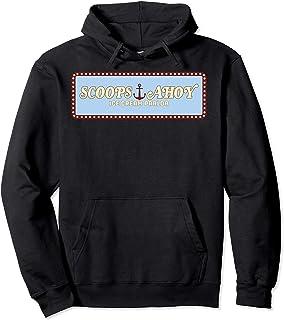 Netflix Stranger Things Scoops Ahoy Ice Cream Parlor Logo Sweat à Capuche