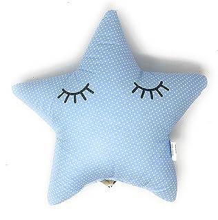 Cojin Decoración Diseño Estrella Durmiendo Ideal para cuna - Danielstore (Azul)