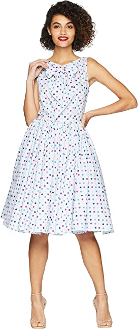 723ba64f1765 Unique Vintage. 1950s Bow Sleeve Selma Swing Dress.  98.00. Doheny Swing  Dress