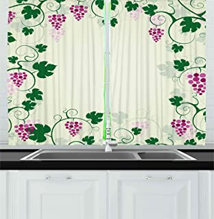 Best Grape Vine Kitchen Curtains of 2020 - Top Rated & Reviewed