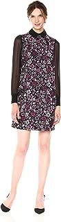 Nanette Nanette Lepore Women's Long Jacquard A-line Dress W/Chiffon Sleeves
