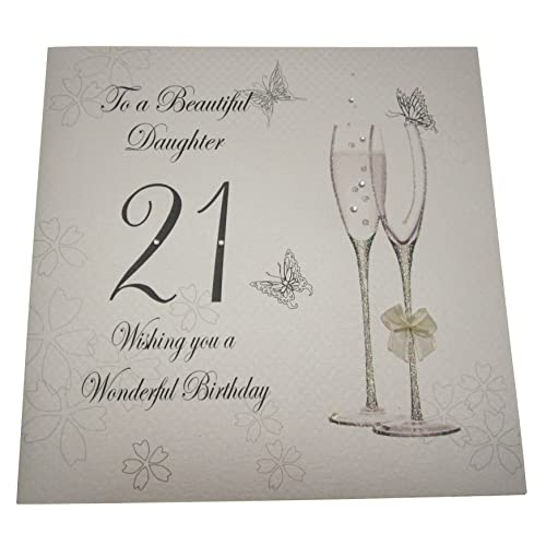 WHITE COTTON CARDS Code XBDD21 To A Beautiful Daughter 21 Wishing You Wonderful Birthday Handmade