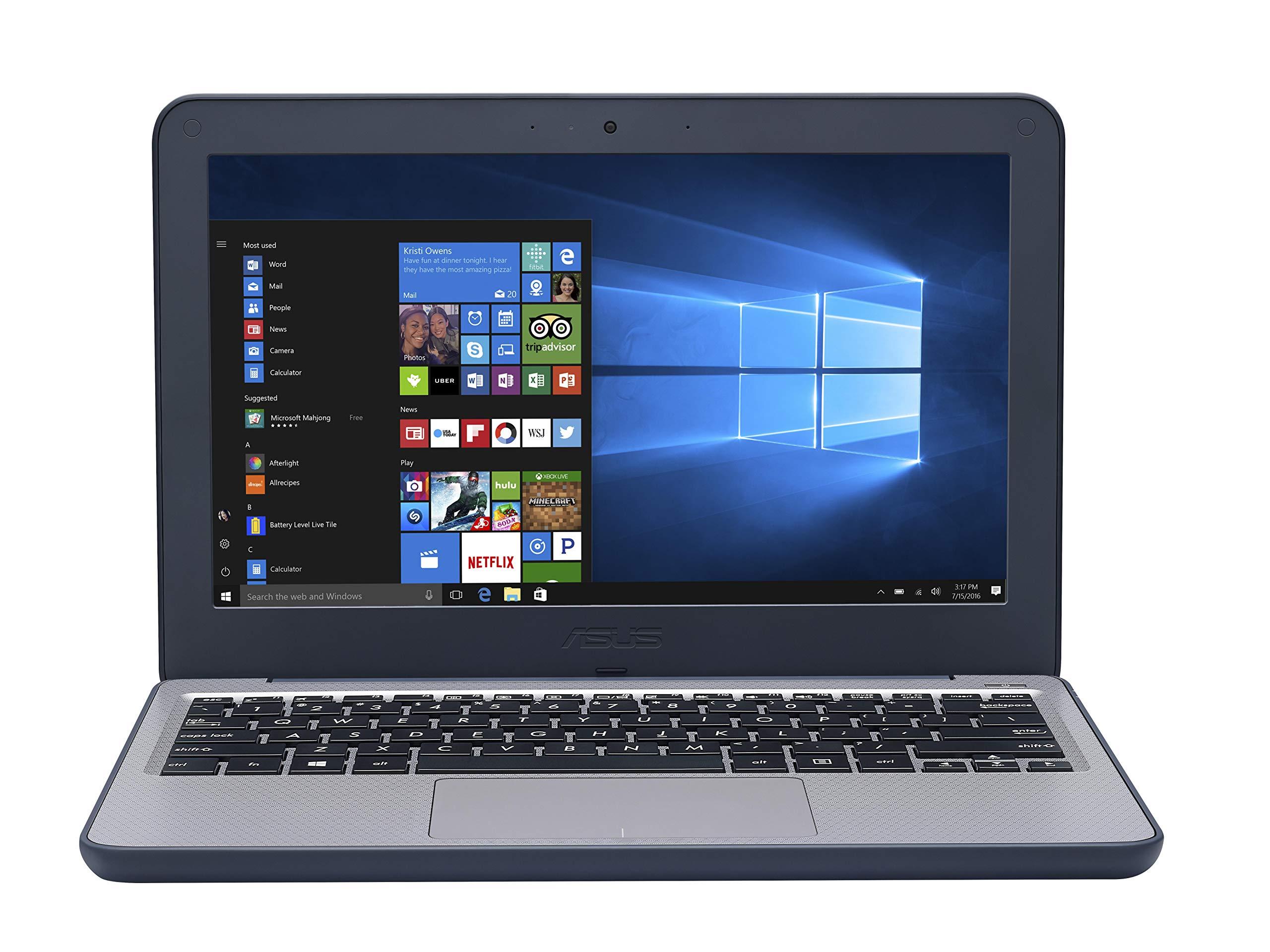 ASUS VivoBook E201NA-GJ008T-OSS 11.6インチHDノートPC  - (ブルー/グレー)(Intel CeleronデュアルコアN3350、4 GB RAM、64 GB eMMC、ウィンドウs 10)