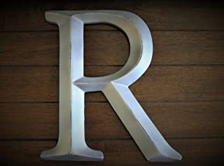 Large Letter R or Pick Letter, Handpainted 12 Inch, Silver or Pick Color, Wall or Shelf Letter