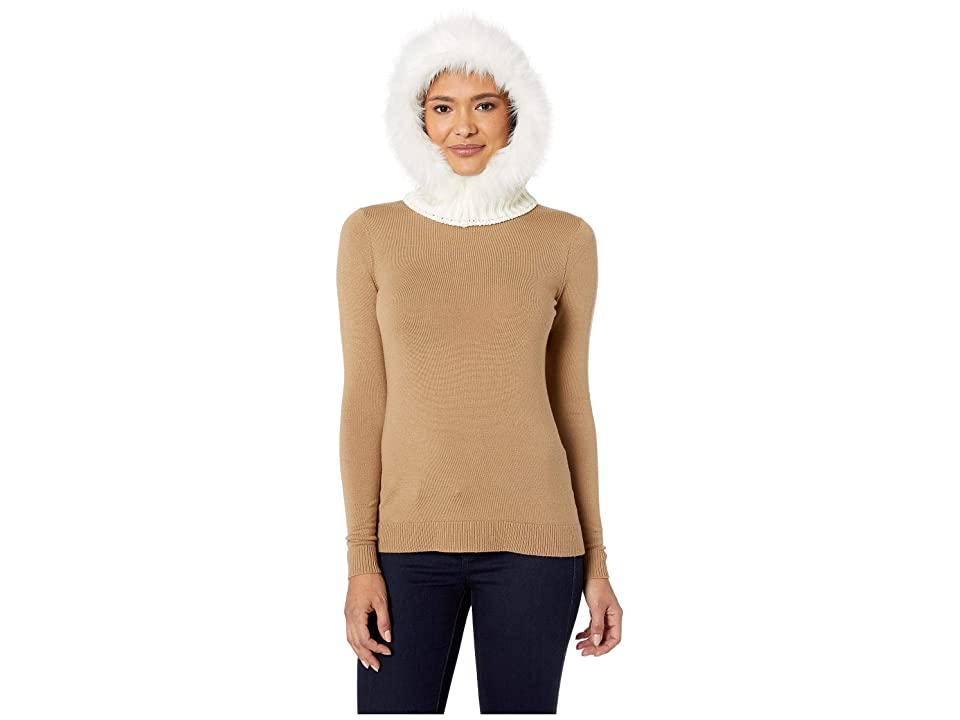 Echo Design Solid Balaclava with Faux Fur (Echo Ivory) Caps