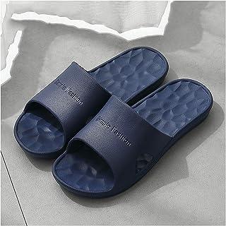 YAOLUU Summer Slippers Zapatillas para Hombre Hombres Verano Baño Suave Suave-Inicio Baño de plástico Sandalias de Interio...
