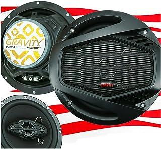 $27 » Gravity SGR654 6.5 Inch 4-Way Car Audio Full Range Speakers - 800Watts Maximum Power Handling Moisture Resistant Rubber Su...