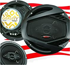 $27 » Gravity SGR654 6.5 Inch 4-Way Car Audio Full Range Speakers - 800Watts Maximum Power Handling Moisture Resistant Rubber Su...