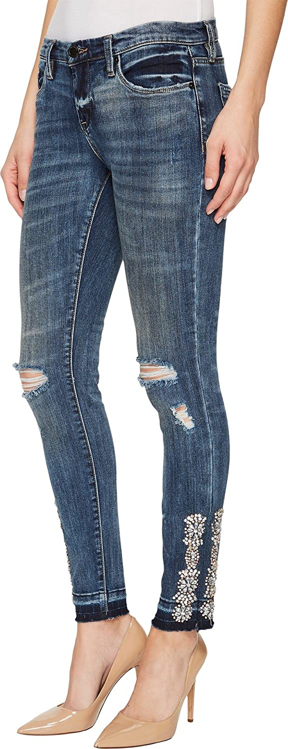 [BLANKNYC] Blank NYC Womens Skinny Classique With Sew On Jewels At Hem In Disco Nap