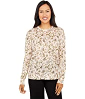 Floral Jersey Sweater