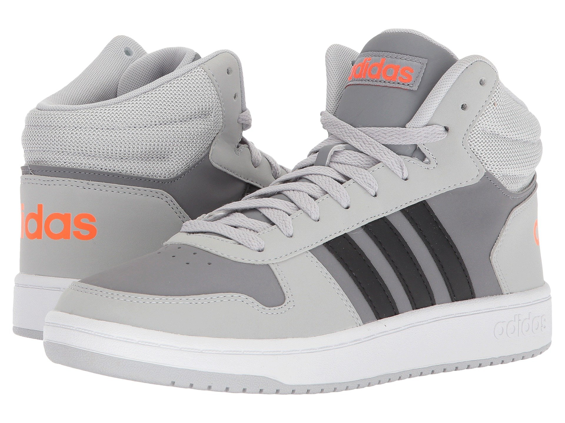 quite nice bc15f b4eed Adidas Originals Vs Hoops Mid 2.0, Grey TwoBlackGrey Three