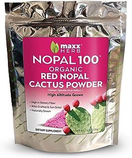Maxx Herb Nopal 100, Organic Red Nopal Cactus Powder (10 oz), for Blood Sugar Balance & Healthy Digestion, High in Dietary...