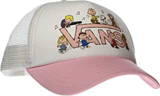 Vans Off The Wall Women's Peanuts Dance Party Trucker Hat Cap - White/Pink