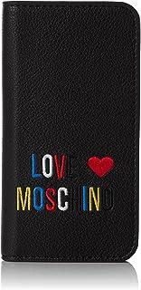 Love Moschino Portacel.small Grain Pvc Nero - Pochette da giorno Donna, (Black), 2x14x7 cm (B x H T)