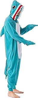 Spooktacular Creations Unisex Adult Pajama Plush Onesie One Piece Shark Animal Costume