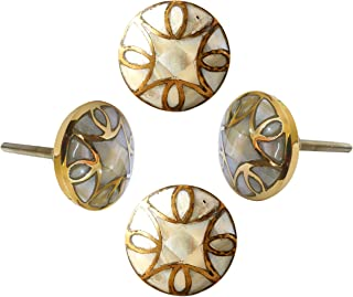 Set of 4 Mop knob Brushed Contemporary Cabinet Hardware Finger Pull Kitchen Cupboard Glass Door Dresser Wardrobe and Drawers Pull by Perilla Home