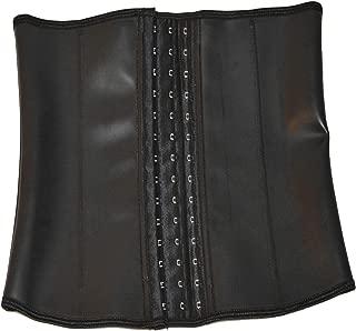 Queenral Male Latex Waist Trainer Steel Boned Slim Belt Corsets for Men