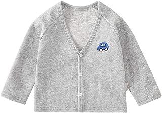pureborn Toddler Unisex Baby Cardigan Cartoon Cotton V-Neck Button Outfit Spring Autumn Jacket
