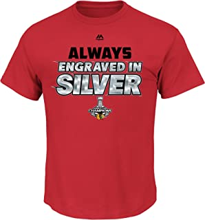 Majestic Chicago Blackhawks 2015 Stanley Cup Champs Always Determined T-Shirt Large