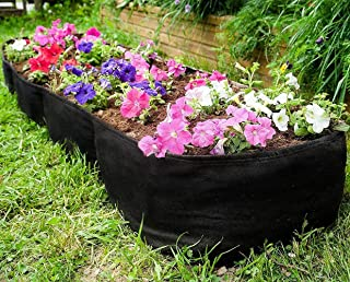 Kenley Fabric Raised Garden Bed for Vegetables - 135 Gallon Rectangle Grow Box & Gardering Container - Pots Planter Bag with Plant Tags Set