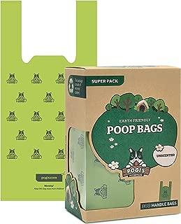 Pogi's Poop Bags with Easy-Tie Handles - Large, Earth-Friendly, Leak-Proof Pet Waste Bags