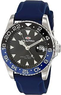 Seapro Men's Agent Stainless Steel Quartz Rubber Strap, Blue, 20 Casual Watch (Model: SP0123)
