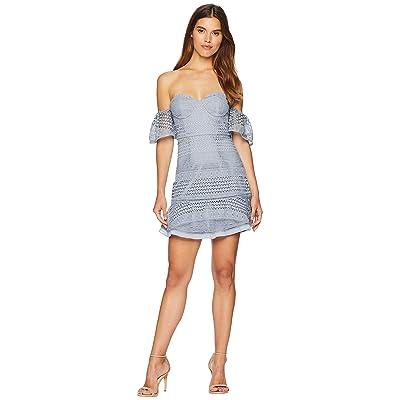 Bardot Lucille Lace Dress (Dusty Blue) Women