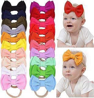 20 lazos de nailon para el pelo, accesorios para recién nacidos, niños pequeños y niños