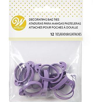 Wilton Icing Bag Ties, 12-Count - Rubber Icing Bag Ties