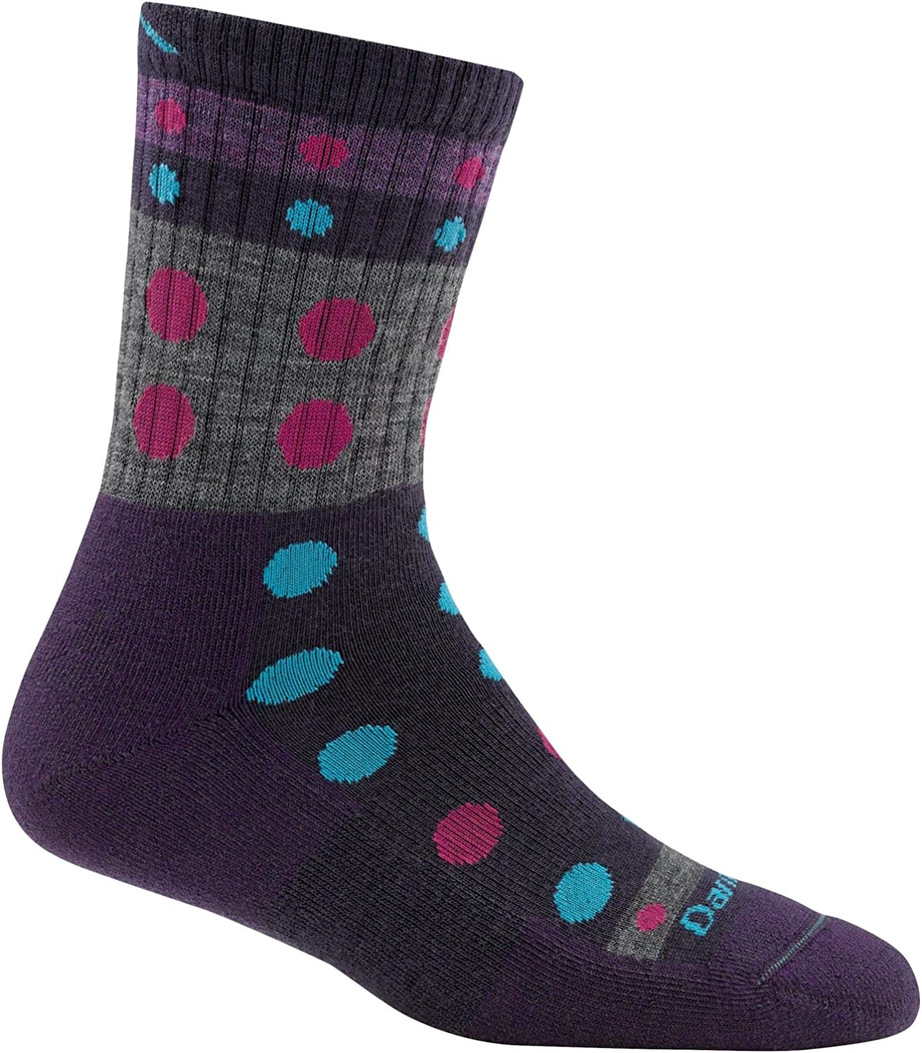 Darn Tough Blazes Micro Crew Cushion Sock - Woherren lila Small