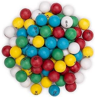 Multi-Color Bingo Balls | 3/5-inch Plastic Balls for Standard Bingo Cages | Perfect for Bingo Nights, Raffles, and More | Lost Bingo Ball Replacements