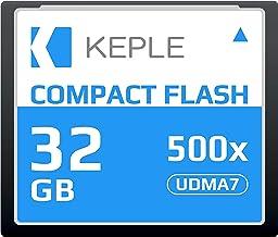 CF 32 GB Tarjeta de Memoria Compact Flash 500x Velocidad 75 MB/s, R 98 MB/s W 46 MB/S UDMA 7 Compatible con Nikon D5, D4, D800, D810, D700, D300; Canon 5d, Mark II, III, IV; 7d, Mark II