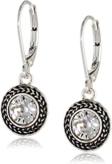 Color Declaration Swarovski Lever-Back Drop Earrings