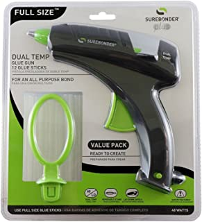 Surebonder DT-270FKIT Full Size Dual Temperature Glue Gun with 12-4-Inch Standard All Purpose Glue Sticks