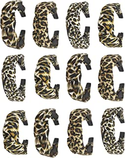 Utkarsh (Set Of 12 Pcs) Multicolor Solid Leopard/Tiger Animal Print Fabric Pattern Korean Style Knotted With Tape Plastic ...