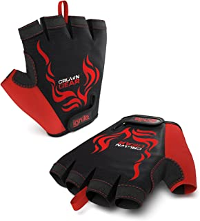 Ignite - Power Weightlifting Gloves for Men with Stretch Mesh and Adjustable Wrist Closure and Protective Palm