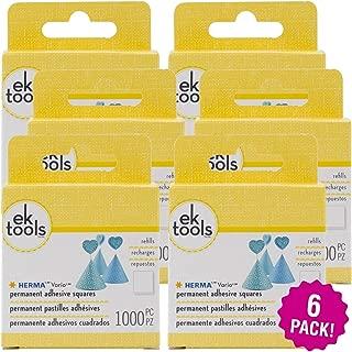 EK 95379 Tools Herma Vario Permanent Adhesive Tab Refill 1000 Count, Multipack of 6, 6 Pack