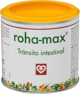 Roha MAX - Complemento alimenticio para regular tránsito intestinal. bote 60 g. hojas